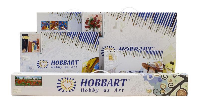 Внешний вид упаковки картин по номерам Hobbart