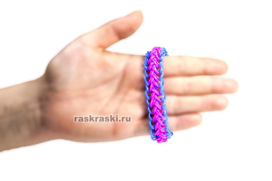 Как плести косу русалки браслет