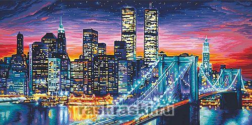 Раскраска по номерам Манхеттен Schipper 9220369