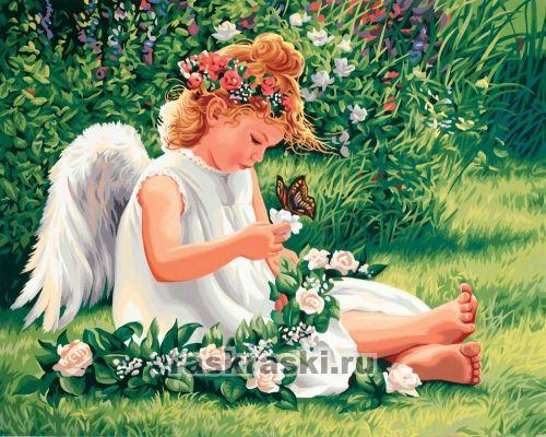 Раскраска по номерам Милый ангел Dimensions (41х51см).