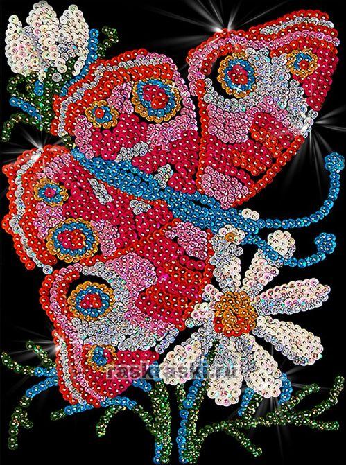 Мозаика из пайеток «Бабочка»