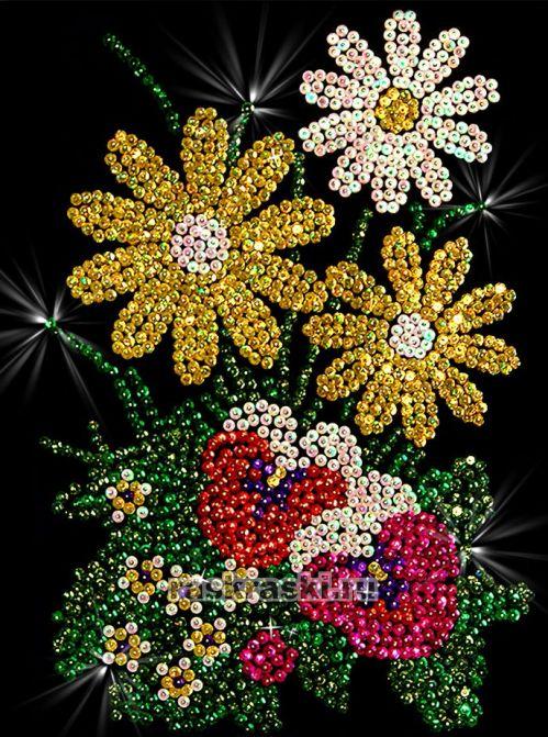 Мозаика из пайеток «Букет»