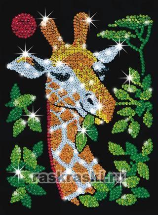 """Мозаика из блесток """"Жираф"""""""