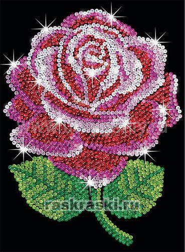 "Мозаика из блесток ""Роза"""
