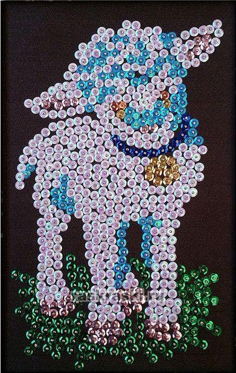 Мозаика из пайеток «Овечка»