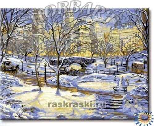 Раскраски по номерам зима купить
