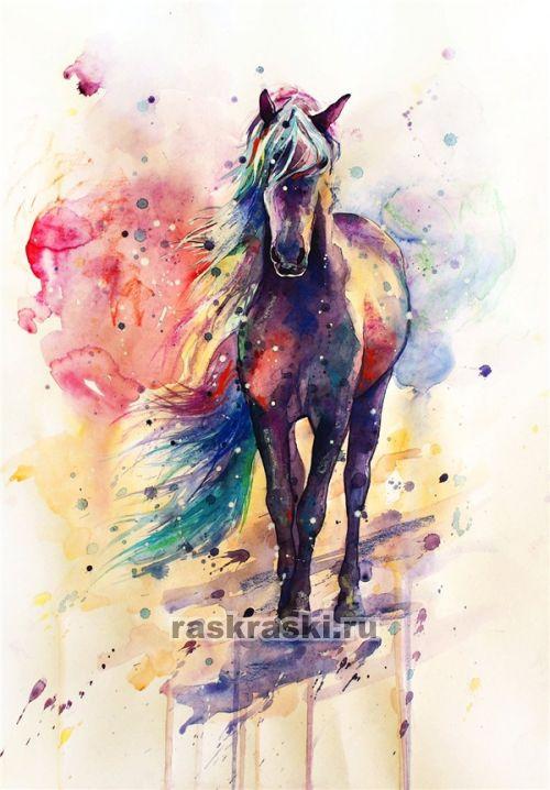 Рисунок из акварель раскраска