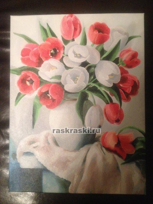 Набор Белоснежка Белые розы 373-AB