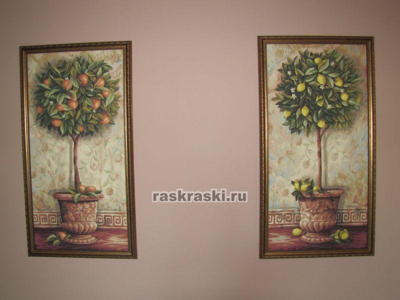 """Раскраска по номерам """"Лимонное дерево"""" Schipper (Германия ..."""