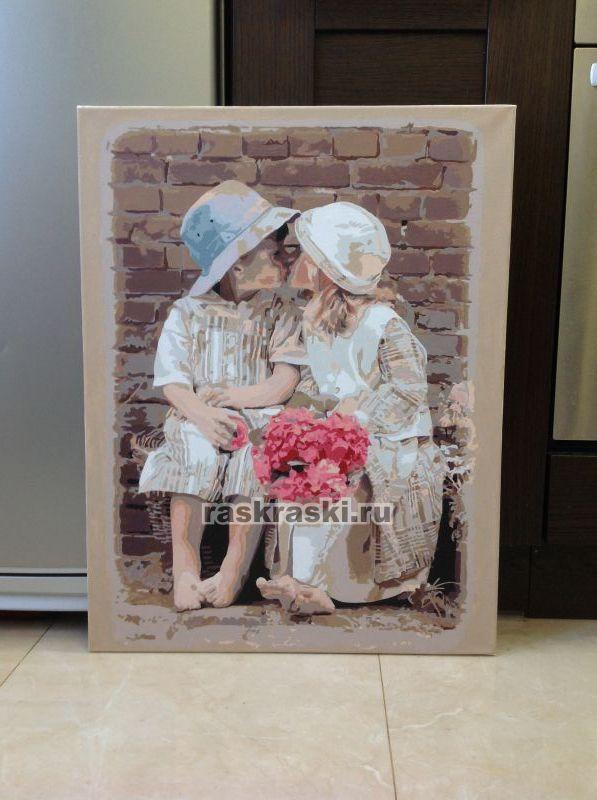 «Детская любовь» Menglei Premium MMC002 — купить картину ... Закрепитель