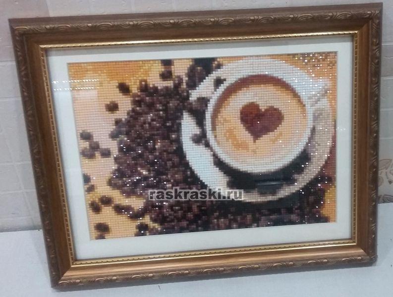 Алмазная вышивка кофейная тема 46