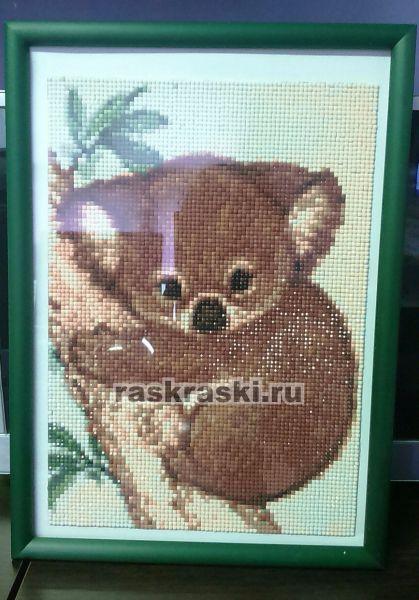 Алмазная вышивка коала 1020