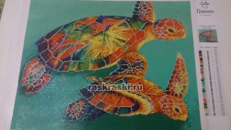 Схема для вышивки бисером Морская черепаха Мамино лукошко