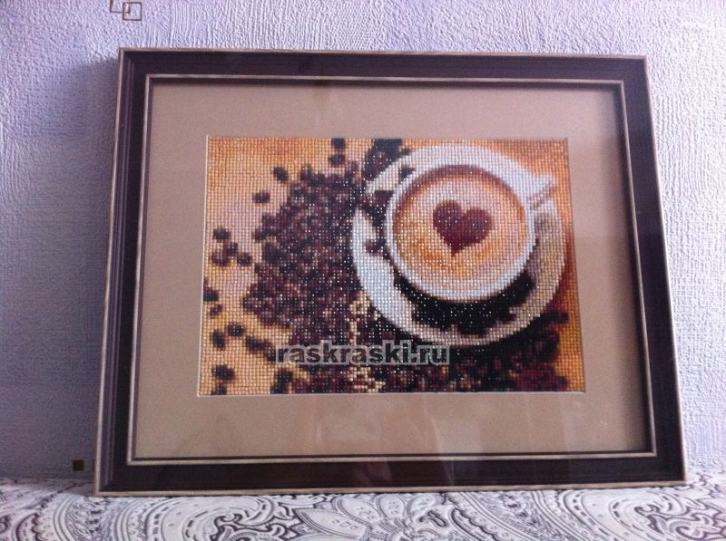 Алмазная вышивка кофейная тема 59