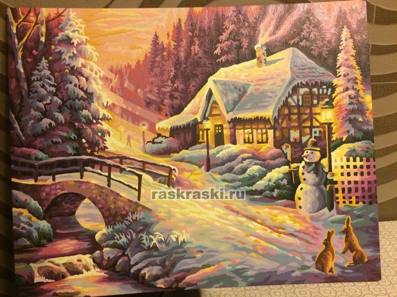Картинки о зиме раскрасить зиму фломастерами