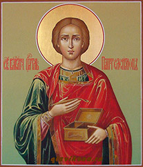 Икона Святого целителя Пателеимона