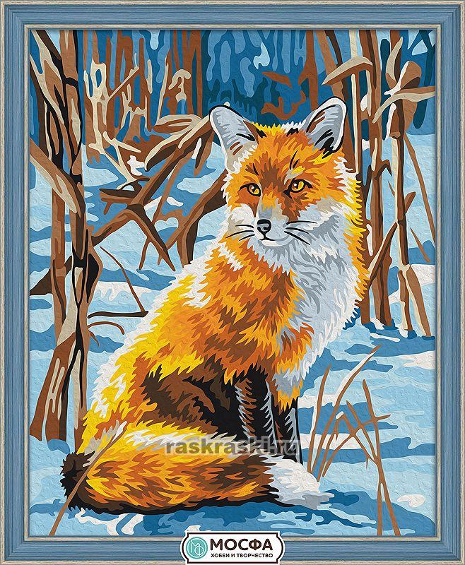 «Лисица на снегу» Мосфа 7C-0078 — купить картину по ...