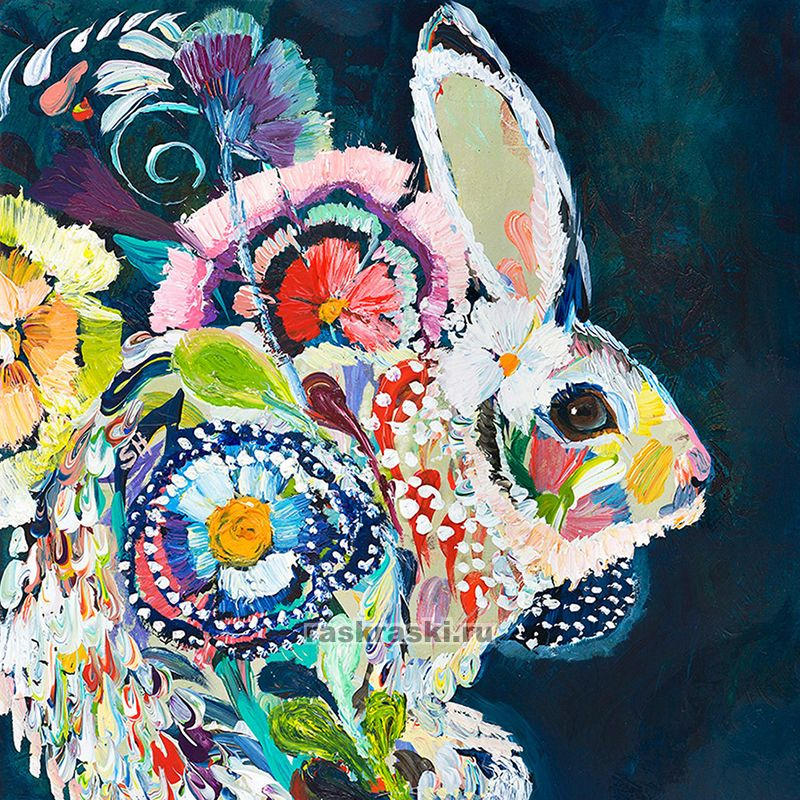 «Цветочный заяц» Color-KIT KS051 — купить картину по ...