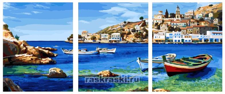 Картина по номерам Paintboy «Средиземноморская бухта»
