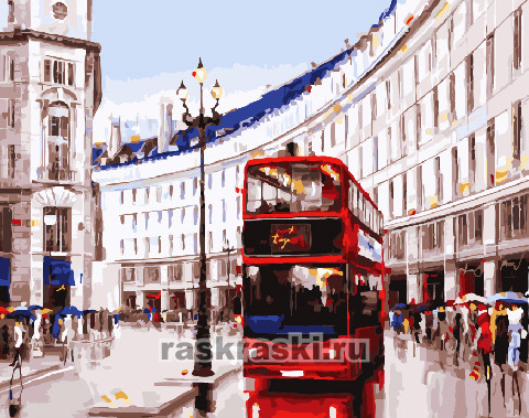 Paintboy / Картина по номерам «Будни Лондона»