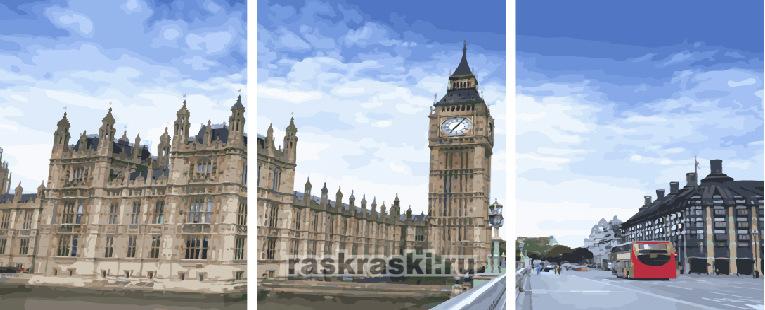 Картина по номерам Paintboy «Утром в Лондоне 40*50*3»
