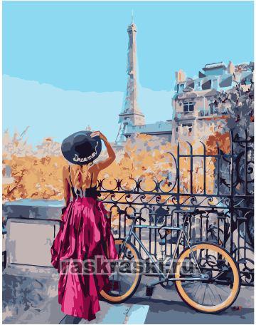 Paintboy / Картина по номерам «Велосипедный маршрут по Парижу»