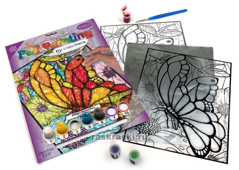 "Раскраска по номерам ""Бабочки"" Royal Langnickel FPBN1 ..."