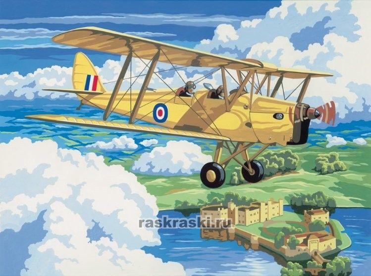"Раскраска по номерам ""Старый самолет"" Royal Langnickel ..."
