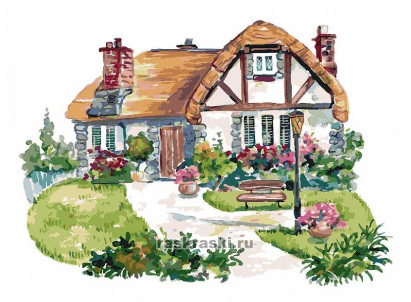 «Домик на полянке» Белоснежка 068-AS — купить картину по ...