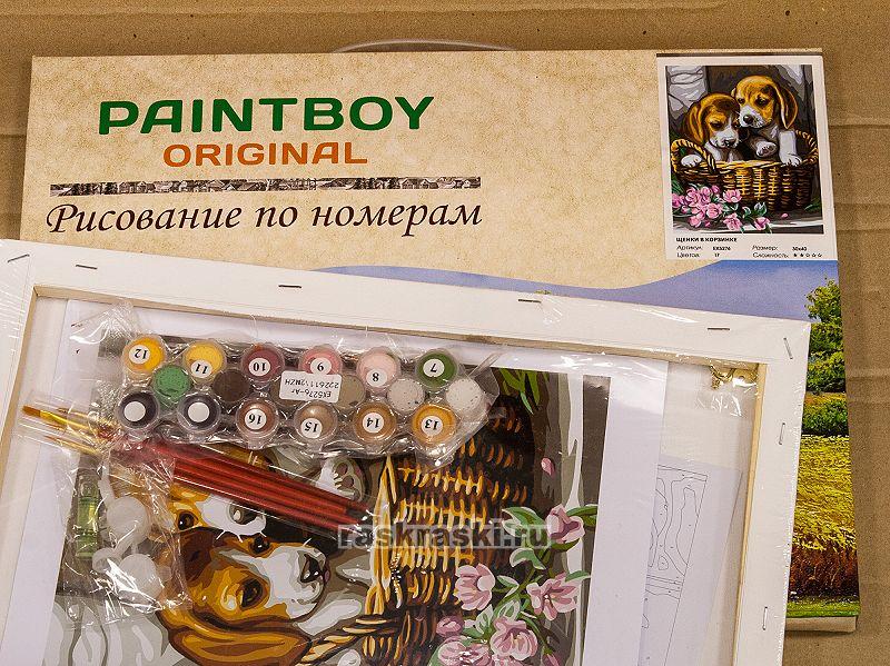 «Щенки в корзинке» Paintboy Original EX5276 — купить ...