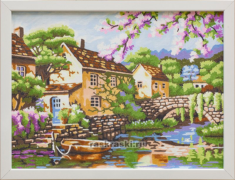 «Домик у реки» Paintboy Original EX5311 — купить картину ...