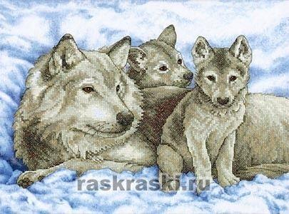 Набор для вышивки волчица