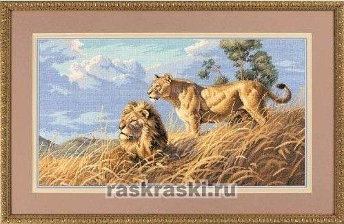 Вышивка крестом наборы-львы