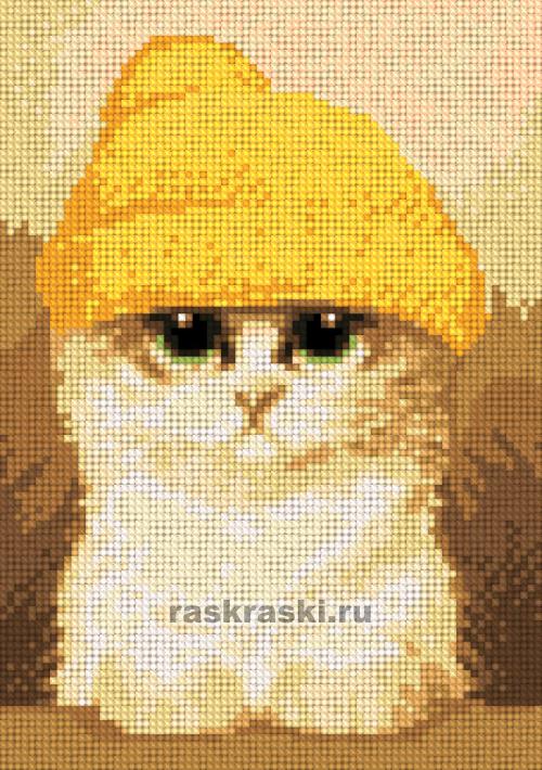 Алмазная вышивка котик