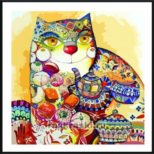 Картинка по номерам коты