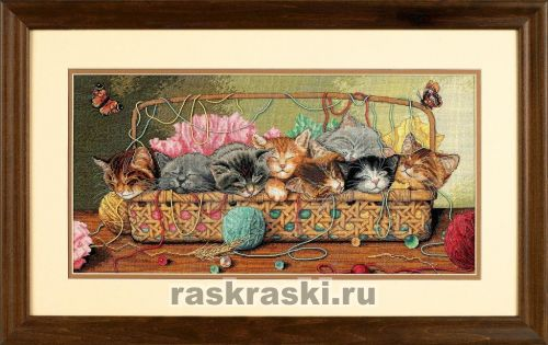 Вышивка крестом набор котята
