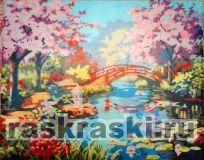 «Вишни в цвету» Menglei MQ013 — купить картину по номерам ...