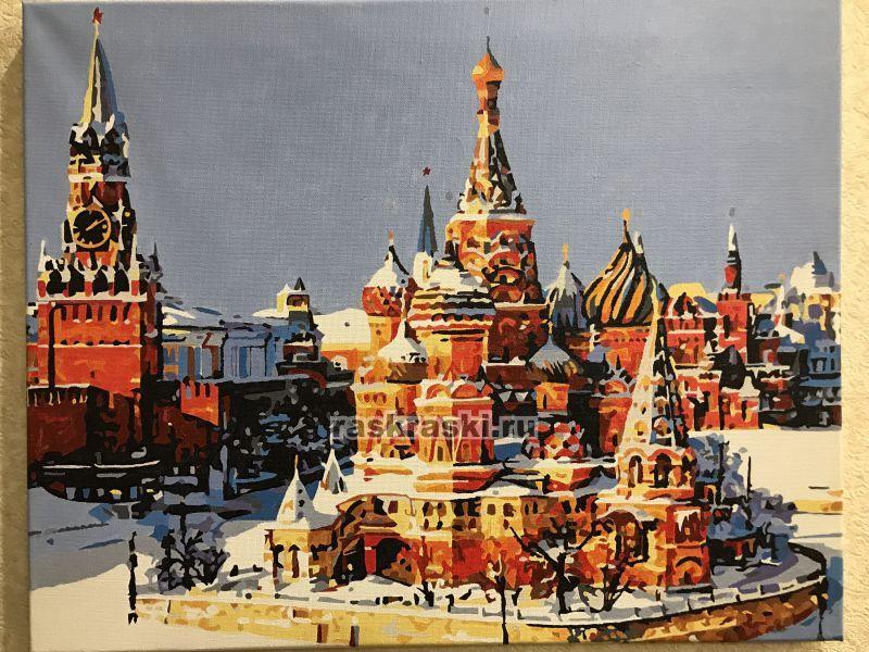 «Красная площадь зимой» Paintboy Original GX8385 — купить ...