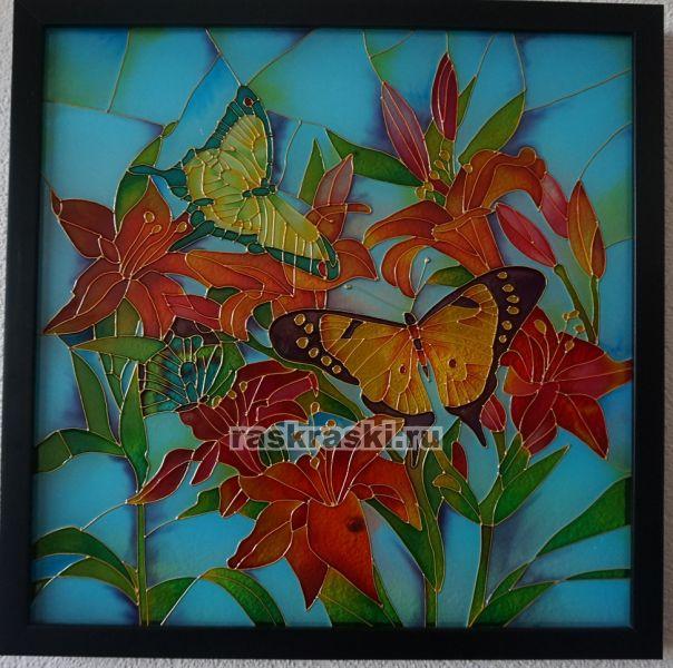 Схемы витражей бабочки
